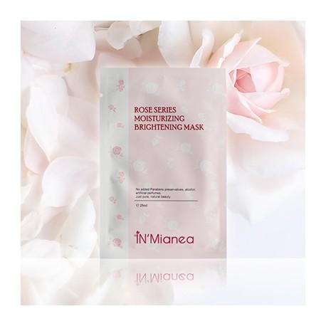 玫瑰水嫩保濕淨白面膜(4入/盒)